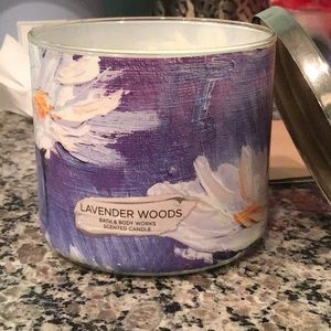 Bath and body works lavender woods candle